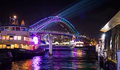 VIVID 2017 Vivid Sydney Harbour ferry bridge-2