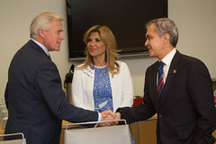 Newfoundland and Labrador Premier/premier ministre de Terre-Neuve-et-Labrador Ball meets with/rencontre Miguel Ángel Mancera, Mayor of Mexico City/maire de Mexico, and/et Claudia Pavlovich, Governor of the State of Sonora/gouverneure de l'État de Sonora