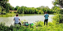 Pêcheurs en Somme (roland dumont-renard) Tags: somme picardie valléedelasomme valdesomme bray braylesmareuil pêcheurs étang