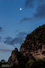 Moonrise (Spark-Photo) Tags: marokopa moon rockface bluehour cliff