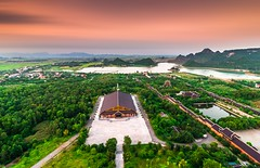 Bai Dinh Pagoda (Other viewing angle) (=Heo Ngốc=) Tags: nature old place nam landscape green history house sky unesco viet wood travel tourism structure temple famous buddha building built blue bai architecture asia cloud dinh culture cloudscape ancient