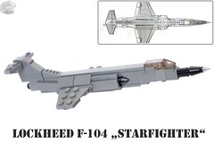 Lockheed F-104 Starfighter - Witwenmacher (microairliner) Tags: micro microscale plane aircraft airplane air moc model afol scale snot attack lego combat bomber lockheed f104 flying coffin fliegender sarg witwenmacher widowmaker erdnagel ground nail