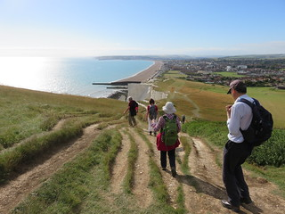 UK - East Sussex - Near Seaford - Walking over Seaford Head