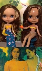 Blythe-a-Day June# 7. Artist (Paul Gauguin's birthday): Amalia&Cynthia