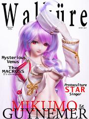 Walküre Vol.1 (帝王赤) Tags: walküre vol1 magazine cover mikumo macross delta doll figure dollfie dream dd volks bjd heero nikon d810 japanese toy animate fashion