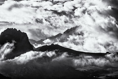 Forces... (Ody on the mount) Tags: anlässe berge dolomiten em5 fototour himmel italien mzuiko40150 omd olympus südtirol urlaub wolken bw monochrome sw canazei trentinoaltoadige it