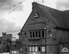 The Two Ruins (Jason_Hood) Tags: disused abandoned derelict dudley dudleycastle pub publichouse blackandwhite monochrome