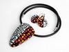 necklace and earring from susan polymer (filigran-design und polymerdesign) Tags: fimo polymerclay halskette ohrringe unikate polymerdesignaufetsyfiligrandesignaufdawandakatzehunddackelkünstlerkatzesusicat jewelry arcilla