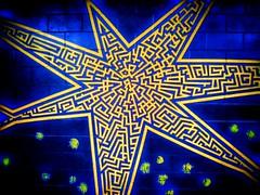 Another Brick In The Devil Rays Wall 2017 (ThePolaroidGuy [CensoredϟRestricted]) Tags: stpete florida ed drake edward edwarddrakemfa masterphotographer my3rdeye thewall devilrays thetrop tropicanafield bricks blue gold design pattern painted stars glowing art mural edwarddrake 2017 tampabay tbrays tampabayrays wall painting