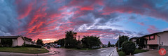 Now, that's what I call a sunset ;D (Kasia Sokulska (KasiaBasic)) Tags: fujix canada alberta edmonton sky weather sunset clouds storm residential street panorama