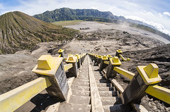 mount bromo step (sydeen) Tags: bromo indonesia volcano java people mountain park crater mt travel mount landscape asia active smoke adventure nature east tengger up sky tourism cloud destination climbing view place top attraction hiking tour climb ladder volcanic step penanjakan batur
