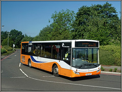 Trevel de Courcey 572, Walsgrave (Jason 87030) Tags: traveldecourcey bus mcv evolution mercedes ae12azf universityhospital walsgrave coventry midlands x6 leicester journey route service june 2017 sony alpha ilce a6000 nex lens orange