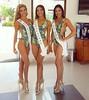 ¡Poderosas! Romina Zeballos, Miss World Guayas 2017. Andrea García, Miss World Santa Elena 2017. Jenny Suriaga, Miss World El Oro 2017.
