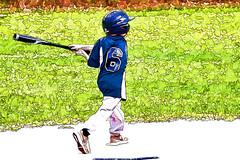 Homer (Bucky-D) Tags: panasoniclumixdmcfz1000 topazsimplify baseball fz1000 lineandink sports summersports keegan topaz