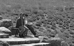 Relaxin', Morton Arboretum. 3 (EOS) (Mega-Magpie) Tags: canon eos 60d outdoors people person the morton arboretum lisle dupage il illinois usa america bw black white mono monochrome man woman guy lady dude gal relax bench