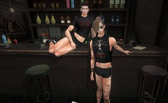 Coyote Ugly (EnviouSLAY) Tags: blogcollab blog collab dark bar pub croptop crop top shortshorts short shorts black red undercut brunette newreleases new releases bento catwa seul valekoer vale koer stealthic mom retrorewind retro rewind mensonlymonthly mens only monthly coyoteugly coyote ugly mensmonthly mensfair mensfashion mensevent monthlymens monthlyfair monthlyfashion monthlyevent event fair fashion pale male gay blogger secondlife second life barscene scene