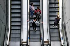 Upwards and onwards (Mr.White@66) Tags: escalator amsterdam metro fujifilm fujifilmx100f