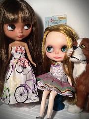 Blythe-a-Day# 7 Bike: Dafina, Emma&Barkley