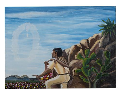 Autor: PERLA DE FATIMA CERRITOS ORDUÑO, La sonrisa de Juan Diego  50x60 cm