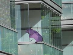 Sunshine? Be prepared..! (Ed Sax) Tags: sonne trocknen wintergarten schirm violet edsax fassade sommer regen