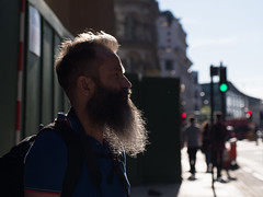 backlit beard (Cosimo Matteini) Tags: cosimomatteini ep5 olympus pen m43 mft mzuiko60mmf28 london portrait michaelwhite beard backlit