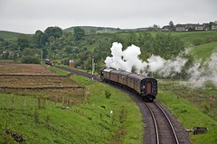 Embsay and Bolton Abbey Steam Railway Branch Weekend on Monday 29th May 2017 (penlea1954) Tags: embsay bolton abbey steam railway branch weekend diesel trains engines engine gwr 062t 5643 great western norman ncb no 35 class 37 37294 38