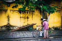 Streets of Hội An (_gate_) Tags: hoi an vietnam travel street hoian south east asia photography food nikon holiday urlaub strase night ship fast sigma 35mm 14 art portrait shot d750 november 2016 trip südost asien südostasien yellow wall woman fahrrad