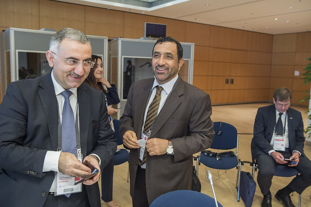 Elmir Velizadeh and Abdullah Salem Al Katheeri networking