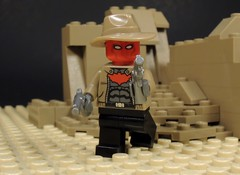 The Western Outlaw (MrKjito) Tags: lego minifig super hero comic dc batman detective comics jason todd red hood robin western cowboy revolvers