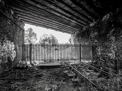 Home Sweet Home (Jason_Hood) Tags: disused abandoned railway railroad monochrome blackandwhite northstaffordshirerailway stoketoleekrailway