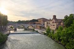 Ponte Cestio - Rome (mikehaui60) Tags: olympuspenepm2 pen epm2 mft pontecestio rome italy rivertiber goldenhour luminar