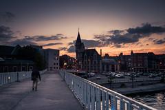 Fin de semaine /End of week (Gilderic Photography) Tags: liege belgium belgique belgie bridge architecture poste gothic crepuscule panasonic lx3 gilderic