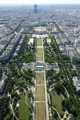 Champ de Mars @ Summit @ Eiffel Tower @ Paris