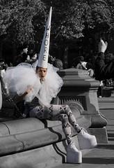 """Just like a unicorn, hey  I am what I am, you are who you are "" - Basto & Natasha Bedinfield (Lidiya Nela) Tags: sonya6000 sony selfexpression manhattan nyc newyork newyorkcity greenwichvillage washingtonsquarepark unusualcharacter unusual street streetphotography park city urban candid people unicorn partialcolor selectivecolor"