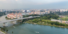 View from the Singapur Flyer
