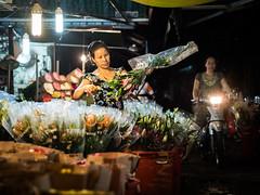 Saigon 31 (arsamie) Tags: saigon vietnam ho chi minh city ville thi ky flower market woman work colors motorbike asia night life people candid