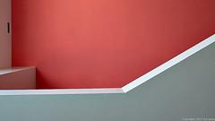 grey balustrade contrast (Furcletta) Tags: ittingen tg switzerland che red grey wall balustrade indoor architecture modernarchitecture 24mm35dpce nikond800 reallyrightstuff rrstqc14 rrsbh30 ramp sidelight angular geometry
