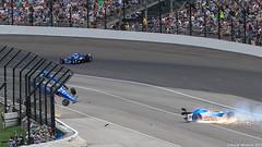 Scott Dixon Crash - 2017 Indy 500 (Brady Whitesel) Tags: scottdixon indy500 2017indy500 ims indycar scottdixoncrash 101indy500 autoracing motorsports openwheelracing