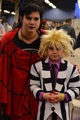 Lydia and Beetlejuice (radargeek) Tags: umc undergroundmonstercarnival 2017 statefairgrounds costume kid lydiadeetz beetlejuice child