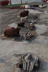 yoga, maheshwar (nevil zaveri (thank you for 15 million+ views)) Tags: zaveri people old architecture exterior shrine maheshwar pradesh mp india madhyapradesh madhya religion photography photographer images photos blog stockimages photograph photographs nevil nevilzaveri stock photo holy man men ghat river narmada water shivalingum shivling yoga exercise nandi