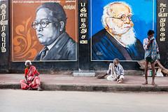 Ambedkar & Periyar. Chennai, India (Marji Lang Photography) Tags: adult ambedkar brambedkar chennai colourimage dalit drambedkar dravidianpeople evr ef247028l erodevenkataramasamy heroes humaninterest india indianheroes indiansubcontinent lifestyles madras marjilang periyar periyarevramasamy ramasamy selfrespectmovement tamilnadu tamilian tamiliansocialactivist thanthaiperiyar travelphotography asia colors composition dalits discrimination district documentary famous horizontal importantpeople indian justice life men nonviolent oldpeople outdoor paintings people photography politician poor poverty sick socialactivist socialissues southindia street streetphotography three threepersons travel travelanddocumentaryphotography woman