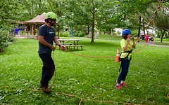 DSC_1265 (Montgomery Parks, MNCPPC) Tags: popupinmontgomeryparks bethesda treeclimbing climbatree tree climbingtrees kids children boys girls arborists elmstreeturbanpark spring may may2017 leaves treetrunks toddler