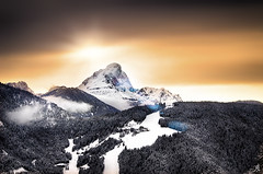 Wintry sunset (Alessandro Giorgi Art Photography) Tags: wintry invernale winter inverno sunset sundown tramonto high altitude sun sole alta quota mountain montagna snow neve peak top picco cima trees alberi sky cielo luce light nikon d7000 sanvigilio italy italia