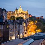 Edinburgh Street at night, Castle to the right thumbnail