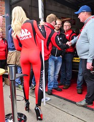 Dunlop MSA BTCC British Touring Car Championship Oulton Park 2017 (sab89) Tags: btcc british dunlop msa touring car championship oulton park 2017 racing pit grid girls rear bum red board