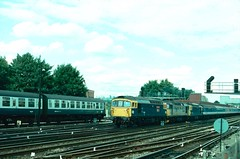 33112+33051+33209 & L595 Redhill, 3rd September 1988 (ST33017) Tags: 33209 33112 33051 l595