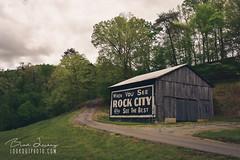 When You See Rock City (Brad Lackey) Tags: rockcity rockcitybarn seerockcity seymour tennessee roadside signpainting vintage vintageadvertisement retro barn sign wood road gravel d7200
