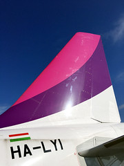 Last airline left in Hungary (roomman) Tags: 2017 poland italy travel warsaw bari waw bri epwa fly flight transport tarnsportation plane wizz wizzair airline airliner a320 airbus jet airport libd halyi lyi airbisa320 320 tail colour colours hungary pink