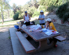 001 Steve At Registration With Harvey And Clare (saschmitz_earthlink_net) Tags: 2017 california orienteering laoc losangelesorienteeringclub losangeles losangelescounty echopark elysianpark