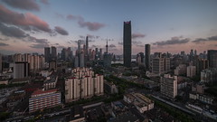 Cityscapes of Shanghai skyline at dusk (HIKARU Pan) Tags: video timelapsevideo shanghai china asia thebund lujiazui outdoors traffic